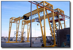 Pair of gantry cranes